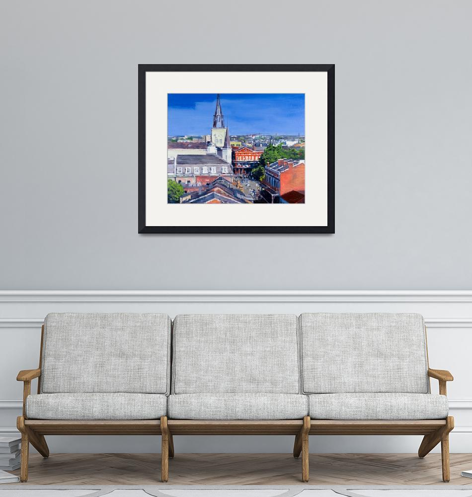 """""""New Orleans French Quarter From Above""""  (2011) by KeatingArt"""