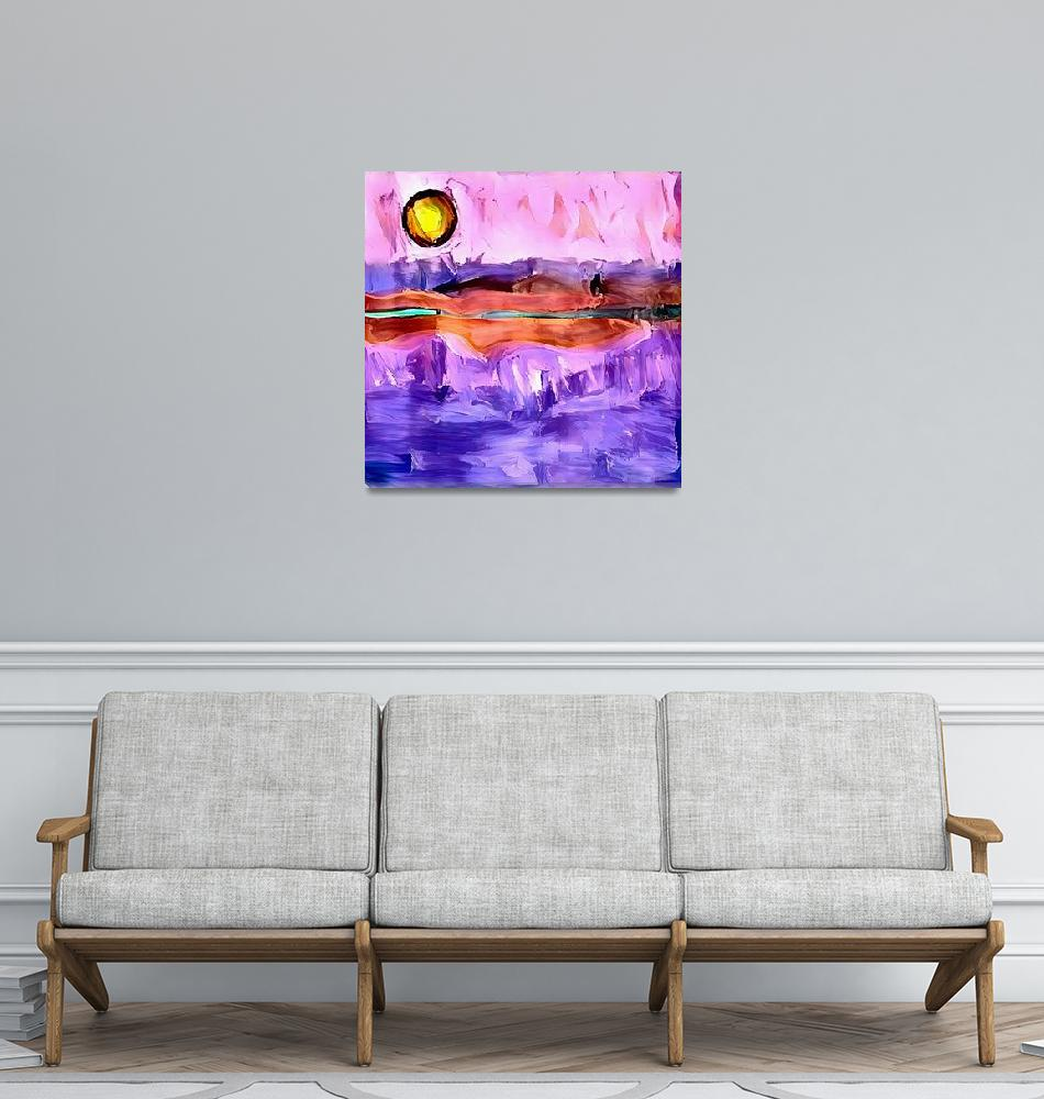 """""""Abstract  Sunset"""" (2019) by rolffimages"""