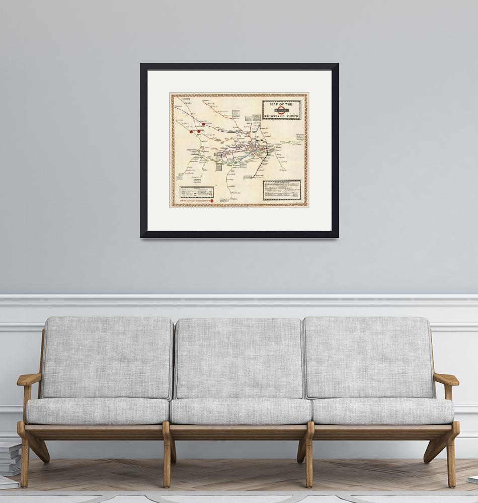 """""""Vintage Map of The London Underground (1923)""""  by Alleycatshirts"""