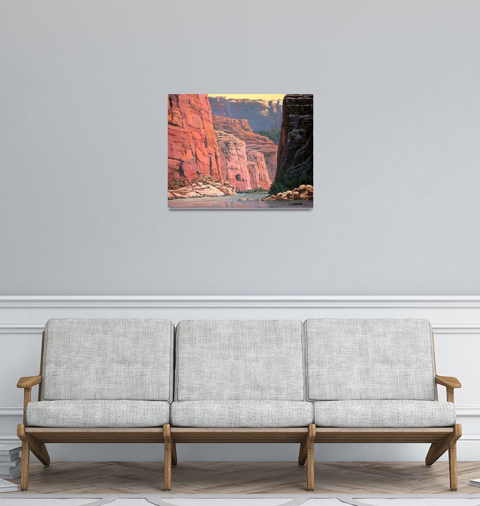 """Colorado River Grand Canyon""  (2006) by RICKKERSTEN"