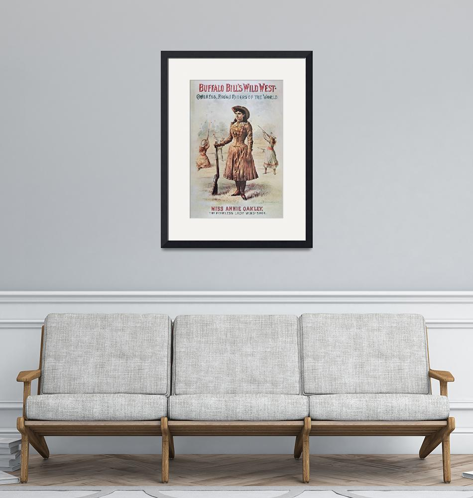 """""""Annie Oakley - Wild West Vintage Poster""""  by fineartmasters"""