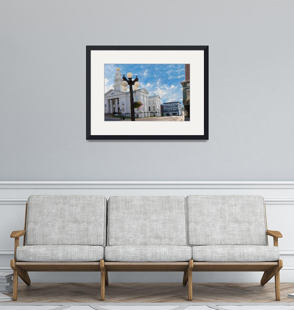 """Winchester Ky Courthouse without Dome""  (2018) by BrendaSalyersArt"