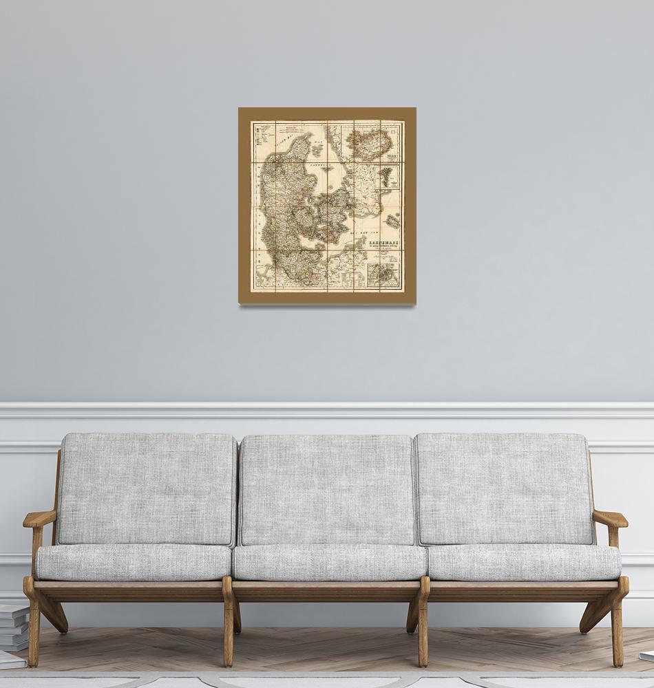 """""""Daenmark mit seinen Nebenländern in Europa (1856)""""  by ArtHistory"""