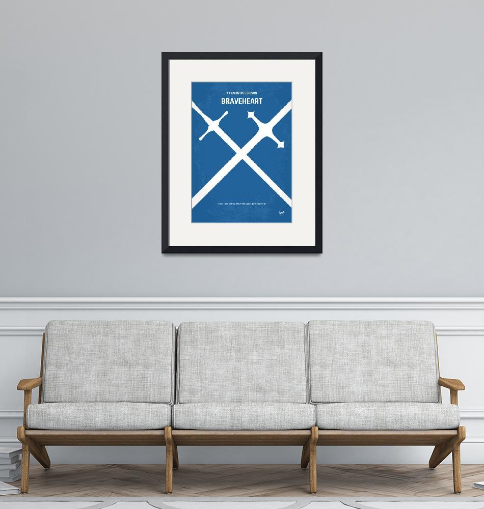 """No507 My Braveheart minimal movie poster""  by Chungkong"