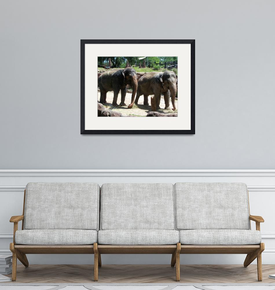"""Elephants""  (2019) by NormaStampSunnyDaze"