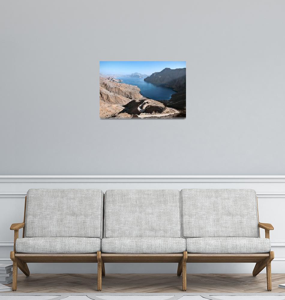 """Jebel al Harim fjord""  (2010) by luigimorbidelli"