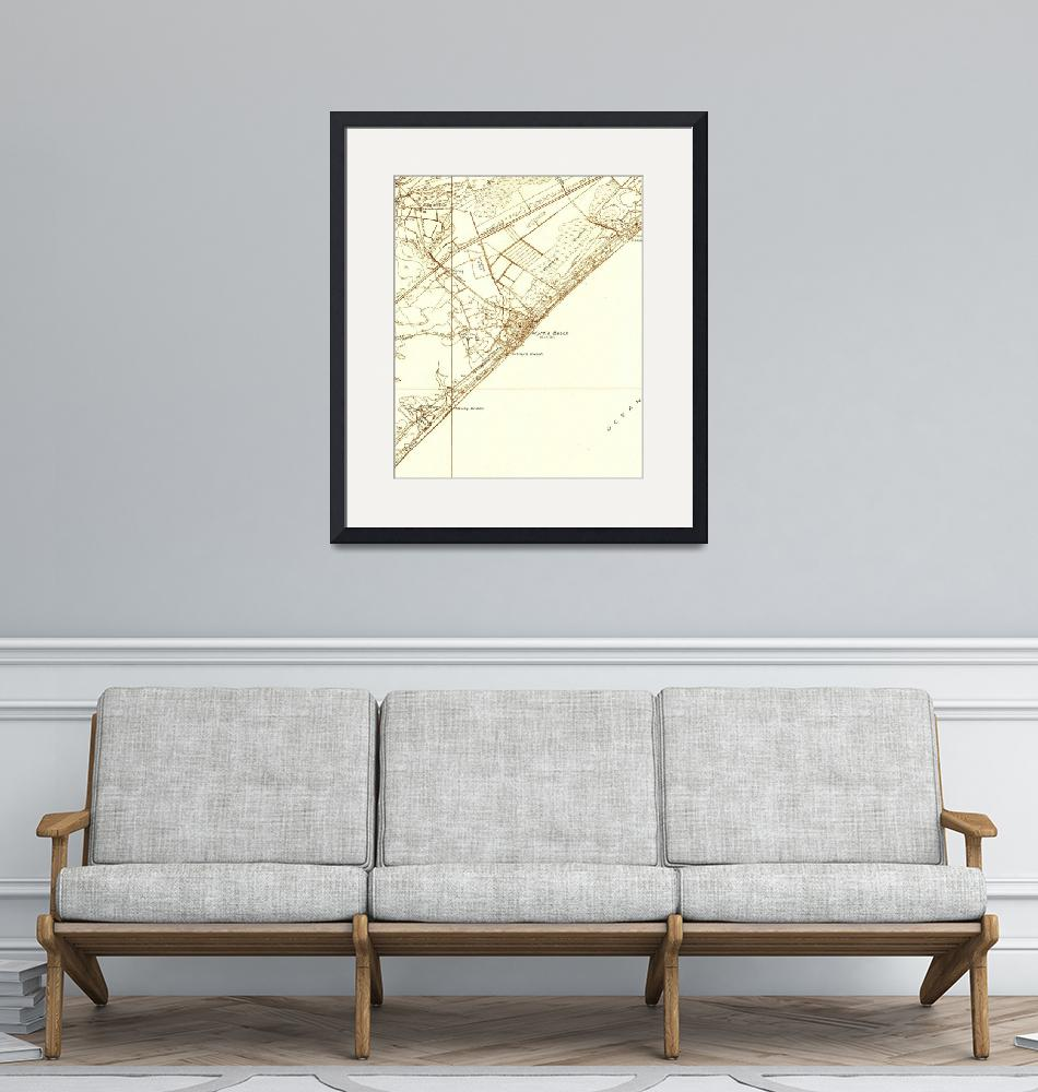 """""""Vintage Map of Myrtle Beach South Carolina (1937)""""  by Alleycatshirts"""