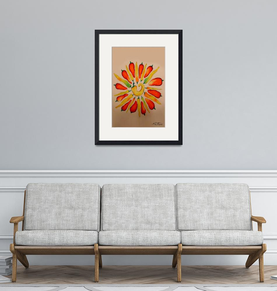 """""""hot pepper daisy""""  (2007) by AmyQueen"""