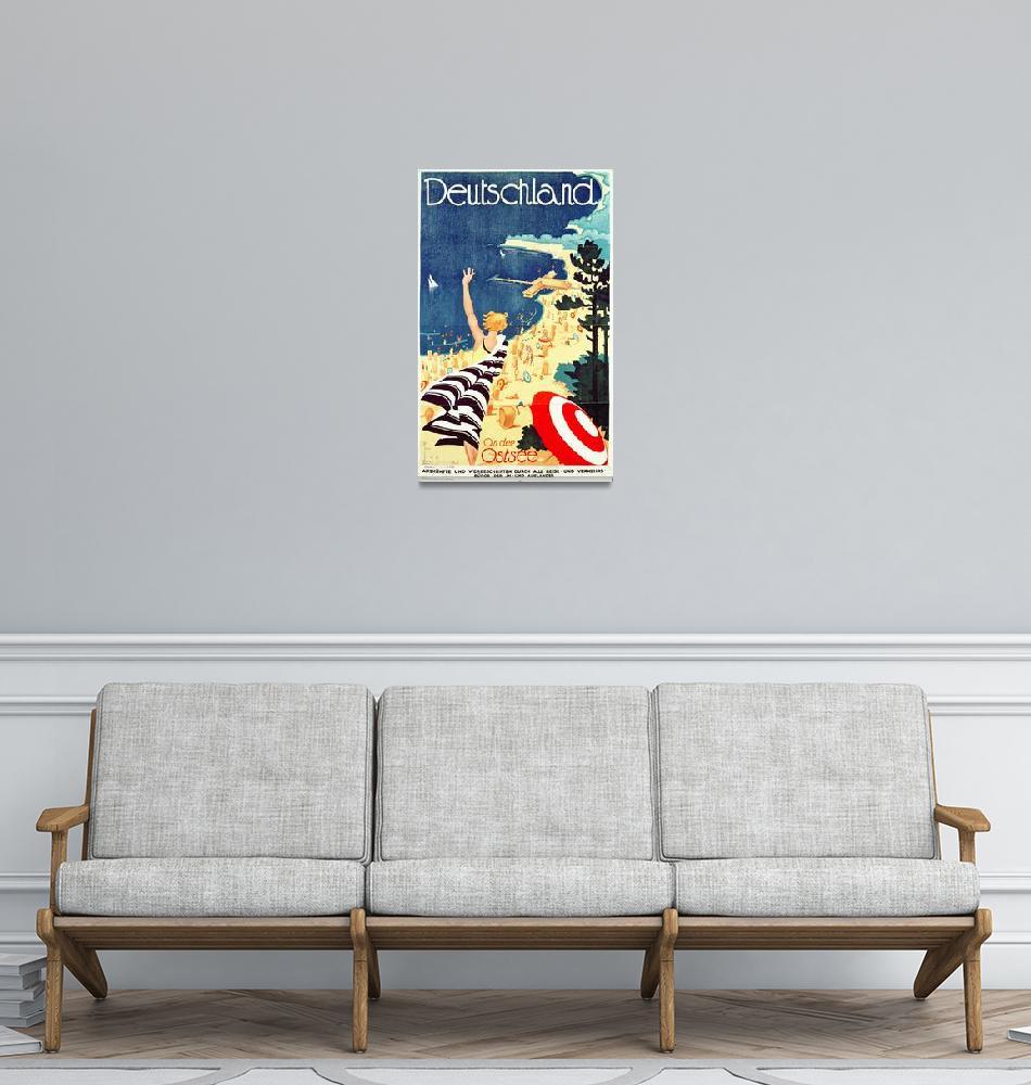"""""""Deutschland, An Der Ostsee Vintage Travel Poster""""  by FineArtClassics"""