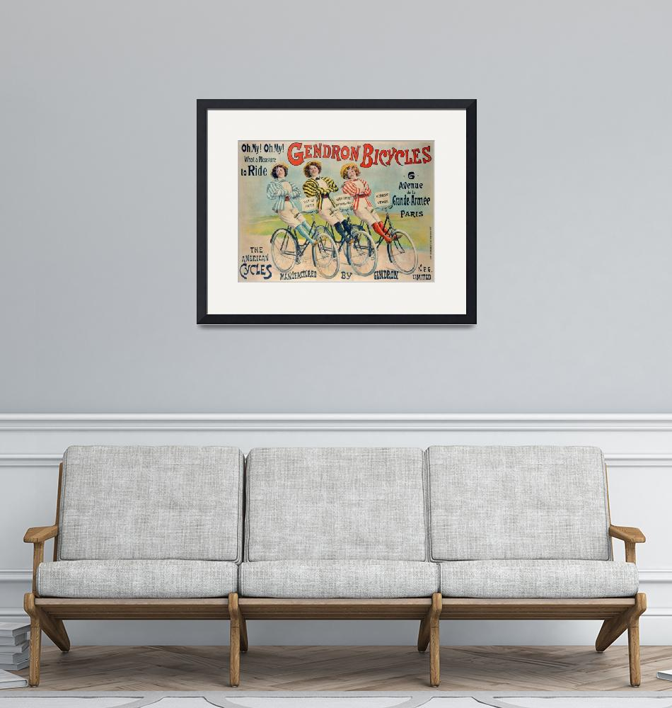 """""""Poster advertising Gendron bicycles""""  by fineartmasters"""
