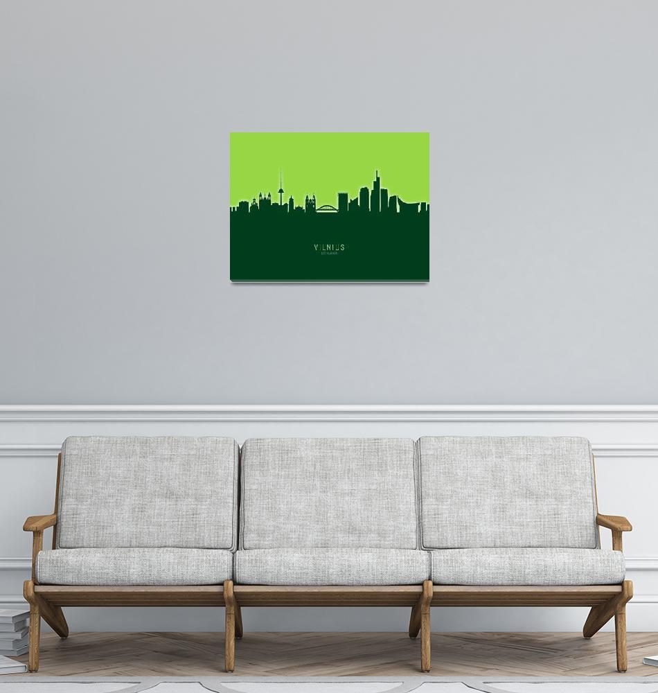 """""""Vilnius Lithuania Skyline""""  (2020) by ModernArtPrints"""