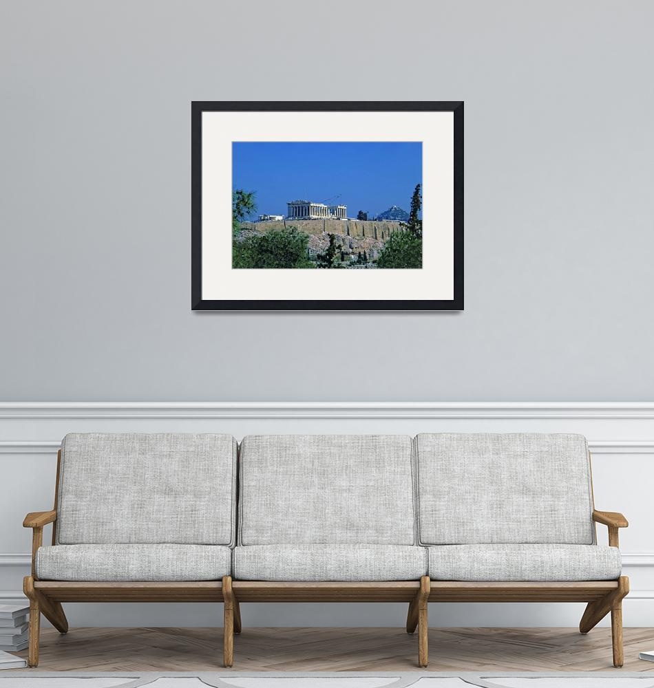 """""""Athenian Acropolis from Philopappou Hill, 2003 6""""  (2003) by PriscillaTurner"""