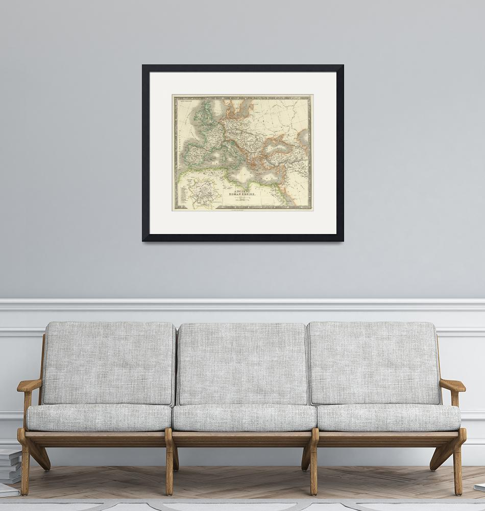 """""""Vintage Map of The Roman Empire (1844)""""  by Alleycatshirts"""