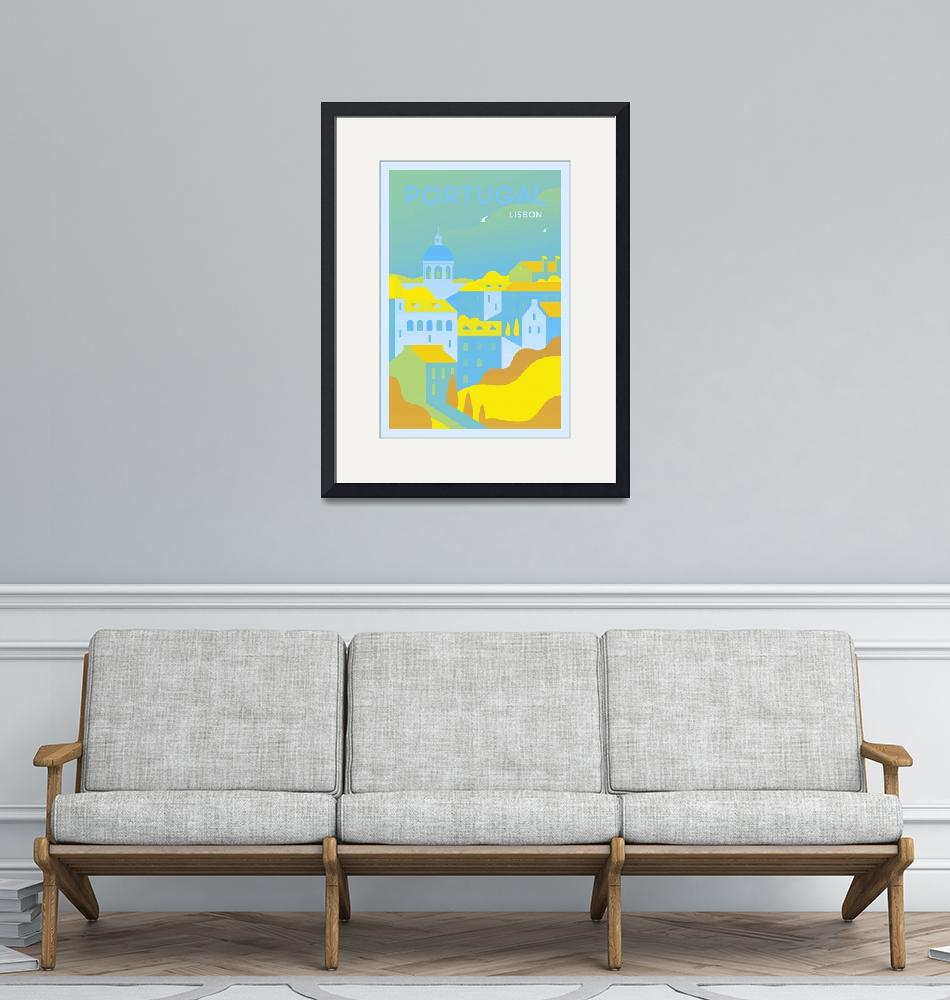 """""""Travel Poster of Portugal 41""""  by Arpina"""