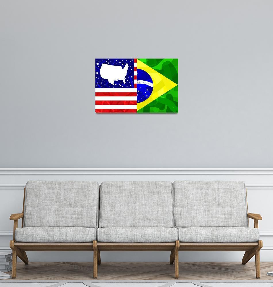 """U.S and Brazil Mix""  (2010) by ADDesigns"