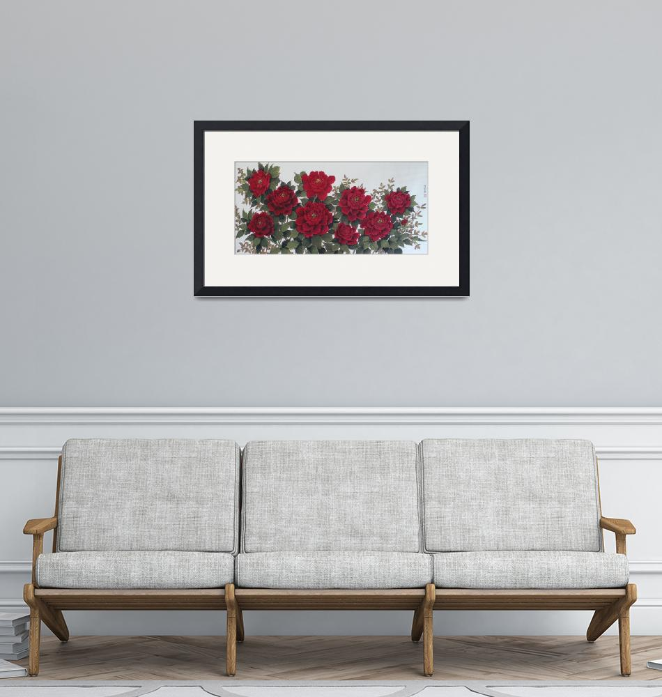 """""""TheLucky Red Peony""""  (2010) by petersuksinchan"""