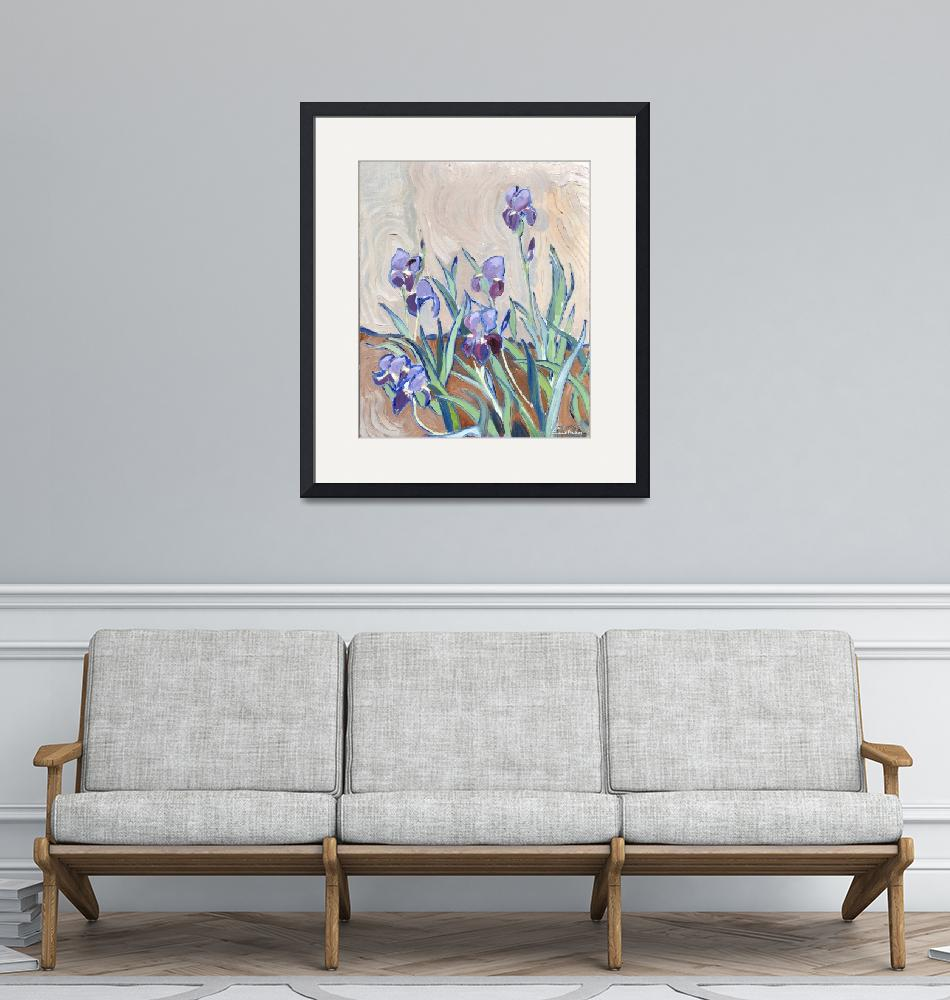 """Lilies""  (1987) by claudebuckleyfineart"
