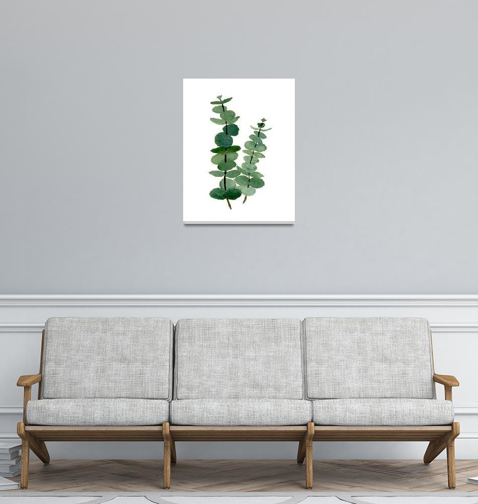 """Eucalyptus Leaves""  (2017) by k9artgallery"