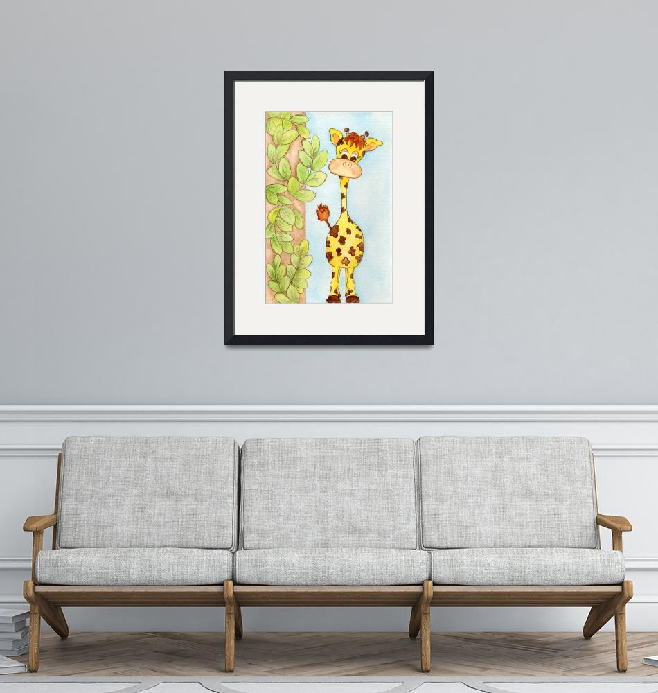 """""""Giraffe with Leaves"""" (2011) by outsidethelinez"""