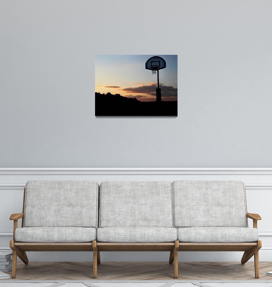 """basketball sunset""  (2012) by Samirosen"