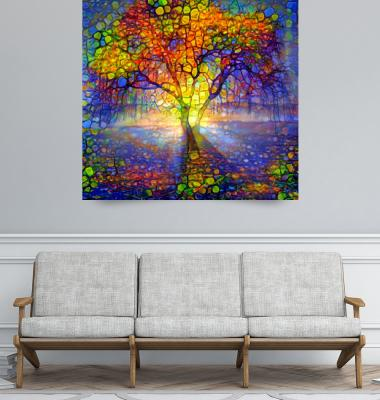 <b>Light through the tree</b> by Lilia Art