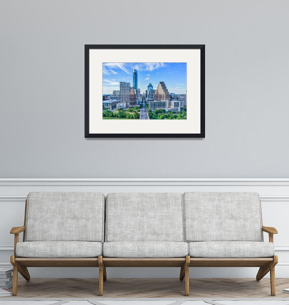 """""""Austin Cityscape with the Texas Capital"""" (2015) by beecreekphotography"""