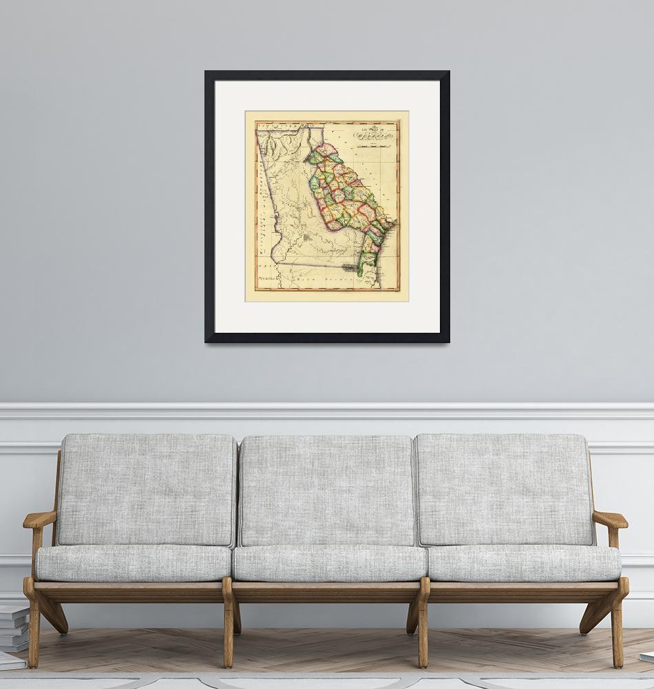 """""""The State of Georgia Map (circa 1810)""""  by ArtHistory"""