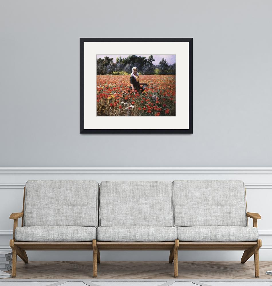 """""""George Hitchcock~The Poppy Field"""" by Old_master"""