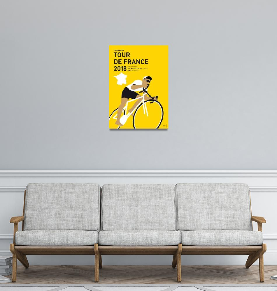 """MY TOUR DE FRANCE MINIMAL POSTER 2018""  by Chungkong"