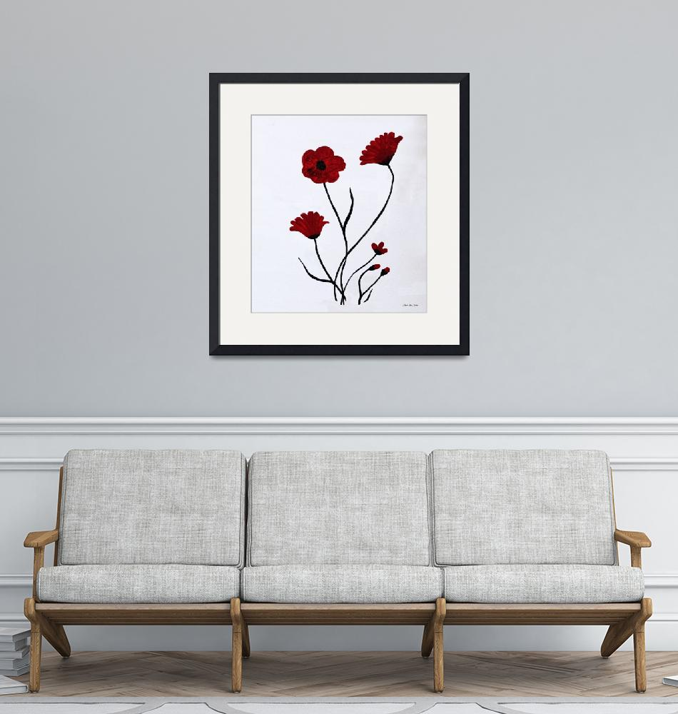 """""""Expressive Abstract Poppies A61516""""  (2016) by MasArtStudio"""