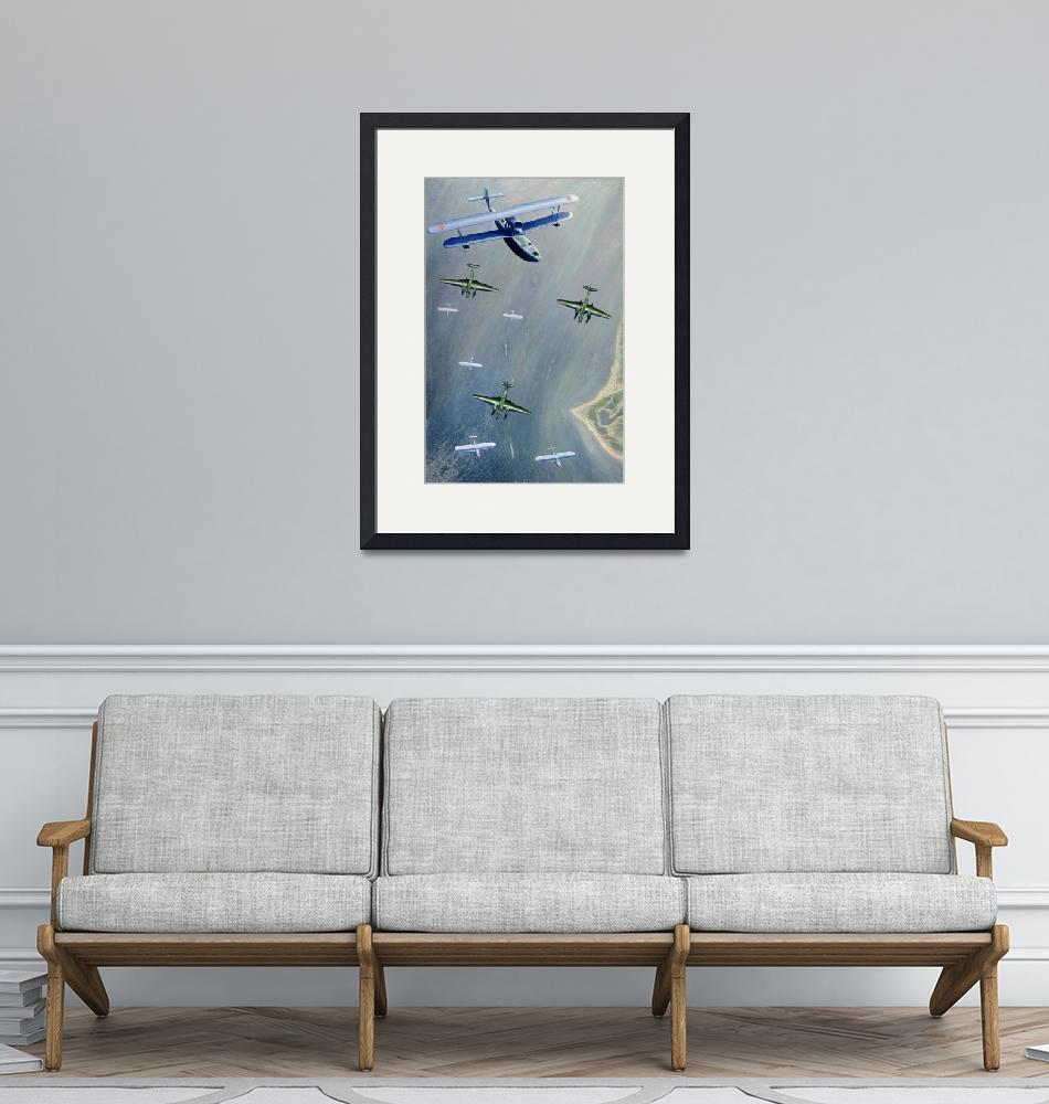 """""""Seaplanes, 1933""""  by fineartmasters"""