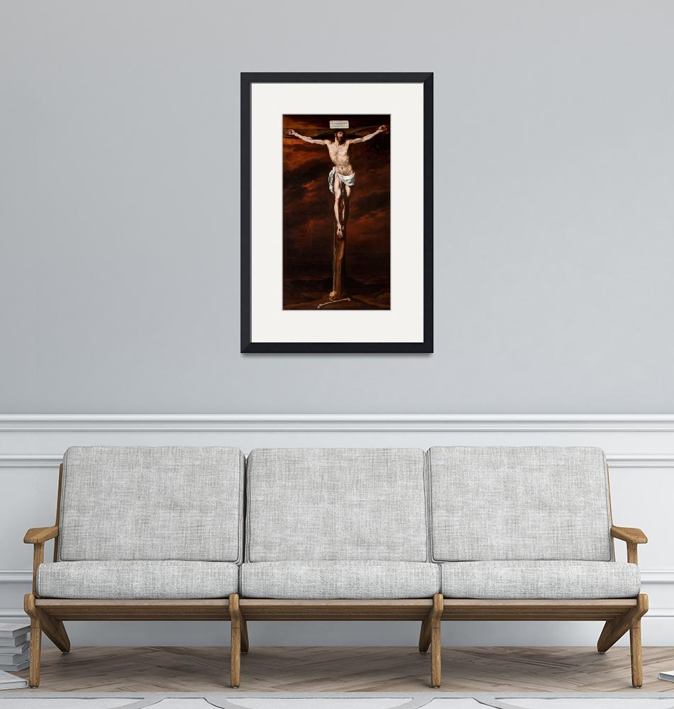 """""""Luis Tristán~Christ Crucified""""  by Old_master"""
