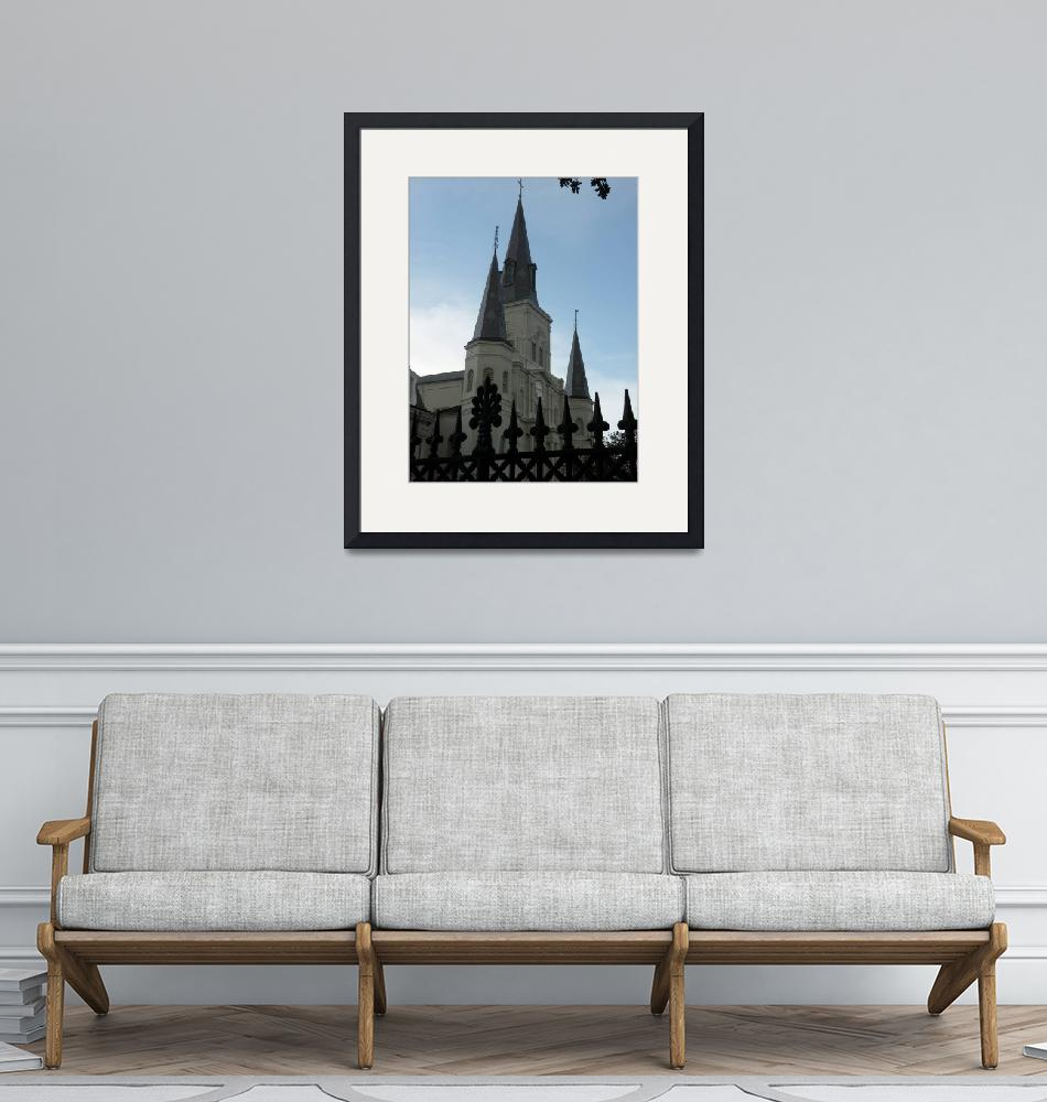 """""""St. Louis Cathedral Steeples""""  (2008) by RPhotos"""
