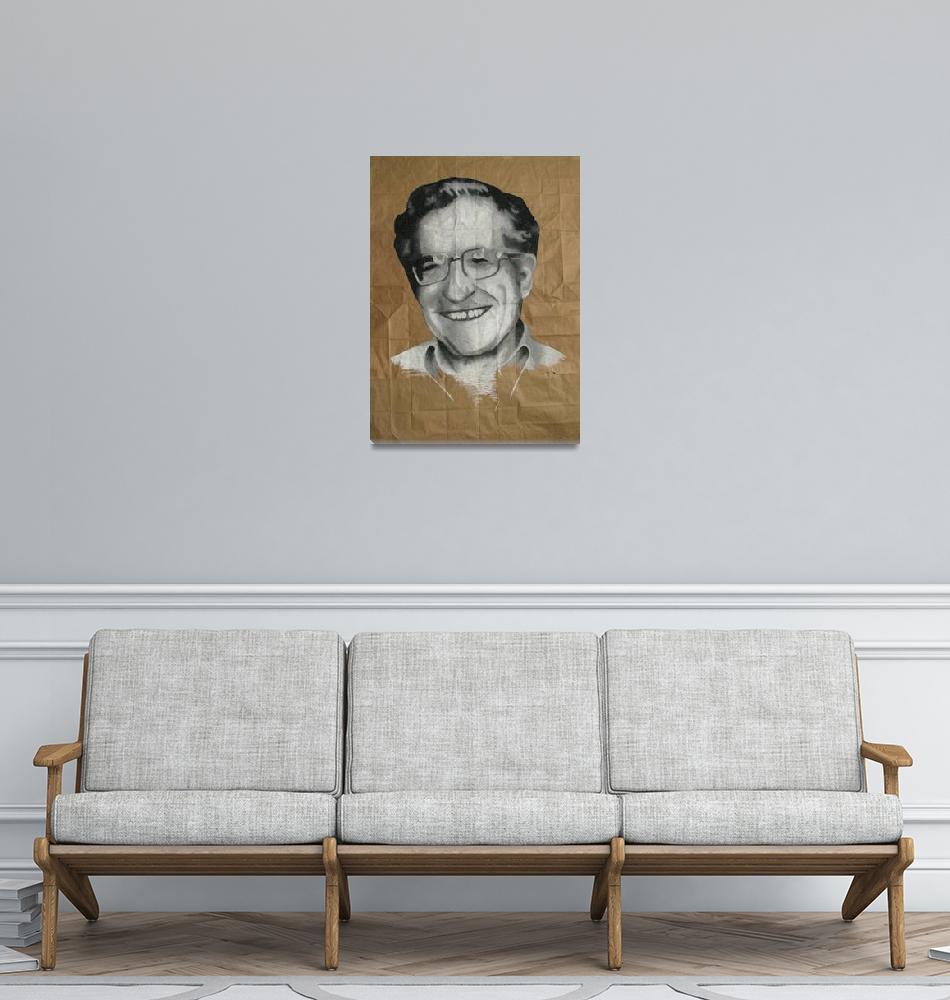 """Noam Chomsky""  (2007) by DevonGrey"
