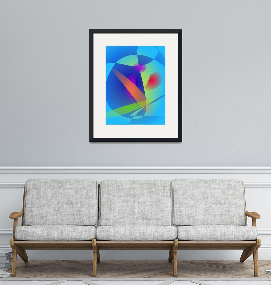 """""""Abstract Composition Light Blue""""  (2014) by masabo"""