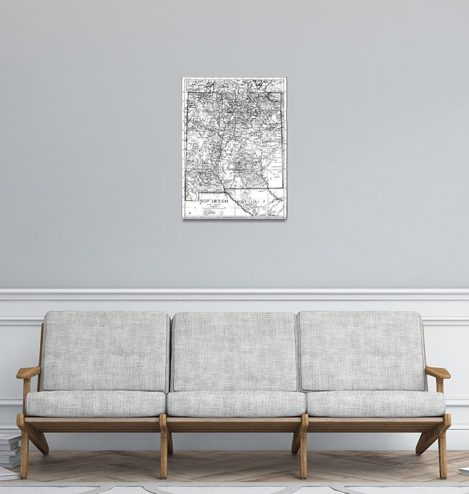 """""""Vintage Map of New Mexico (1911)""""  by Alleycatshirts"""