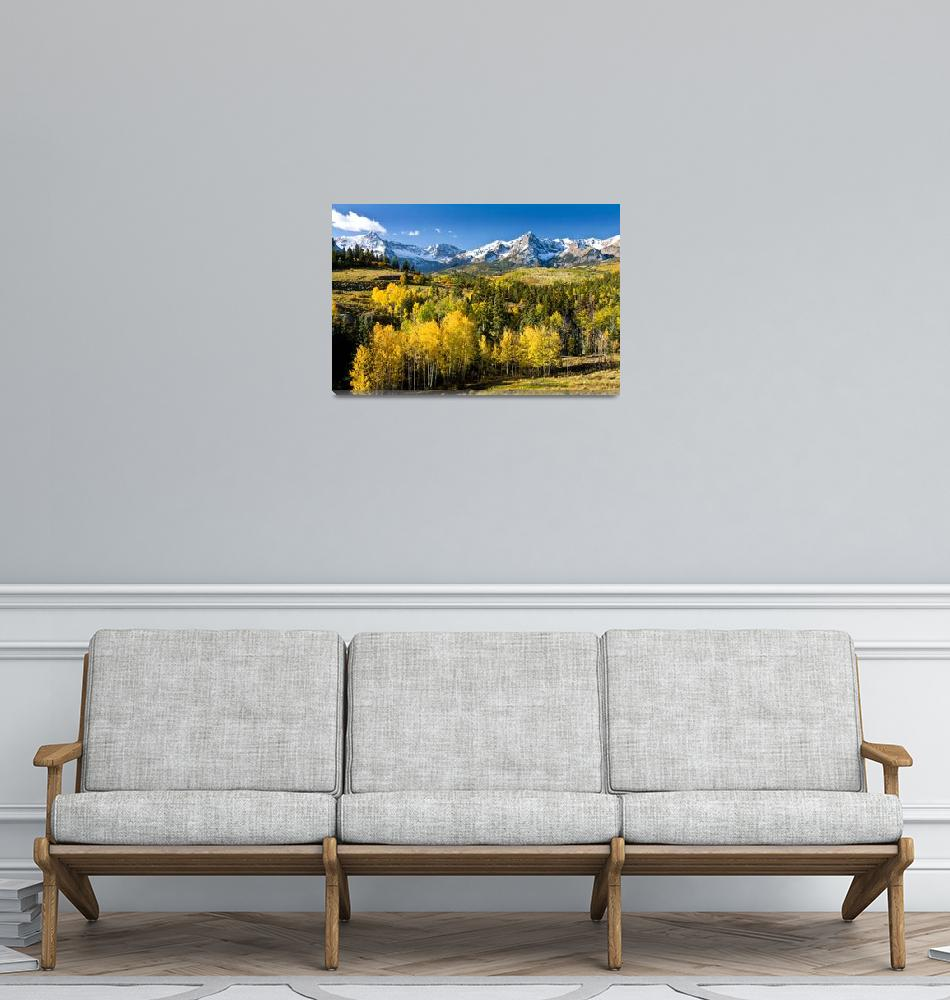"""""""Yellow Aspens In The Rockies""""  (2007) by pbk"""