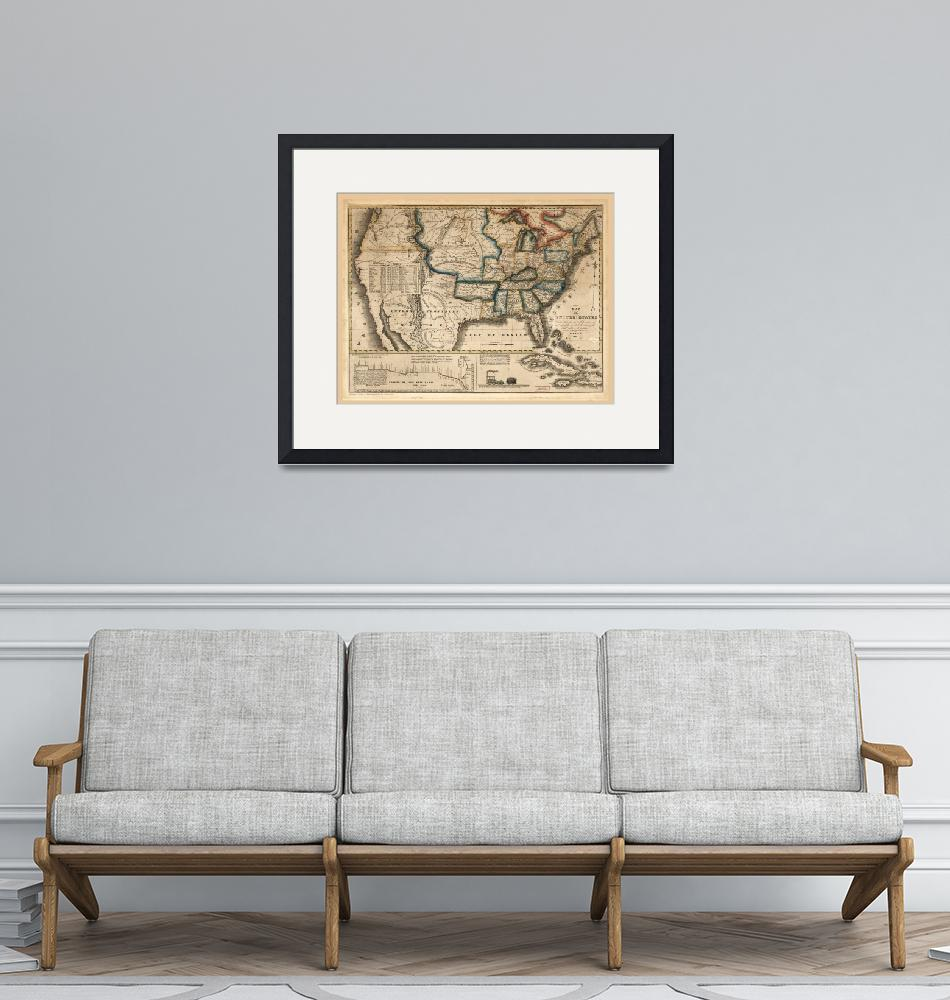 """Map of the United States (1831)""  by ArtHistory"