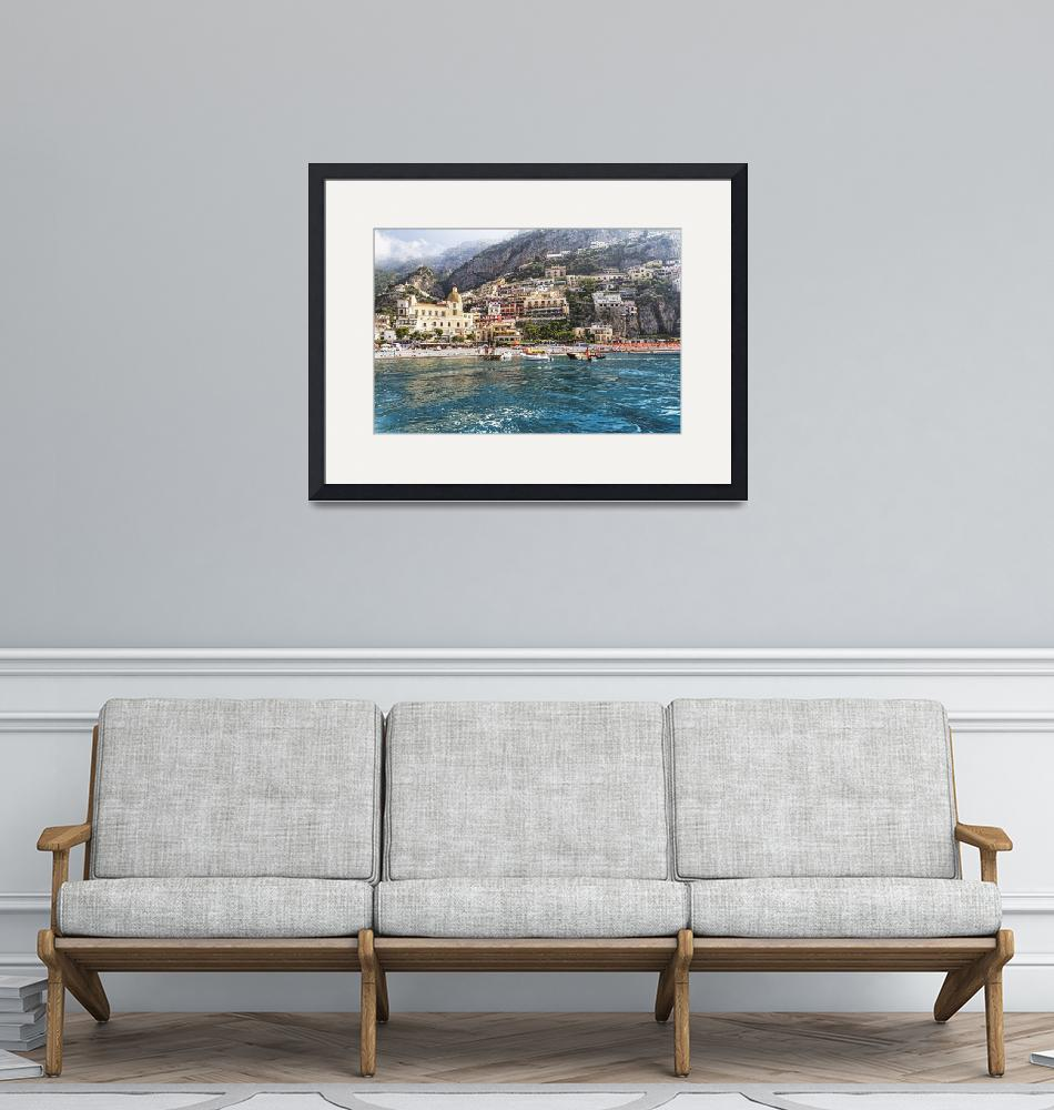 """""""Positano from the Sea""""  (2012) by George_Oze"""