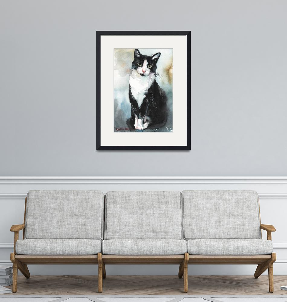"""""""Tuxedo Cat"""" (2013) by creativeartistic"""
