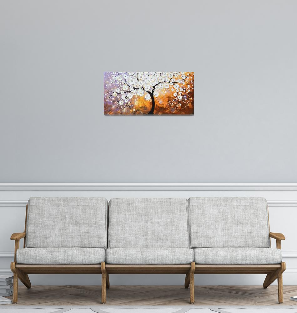 """""""""""Full Bloom"""" White Blossoming Cherry Tree""""  (2014) by ChristineBell"""