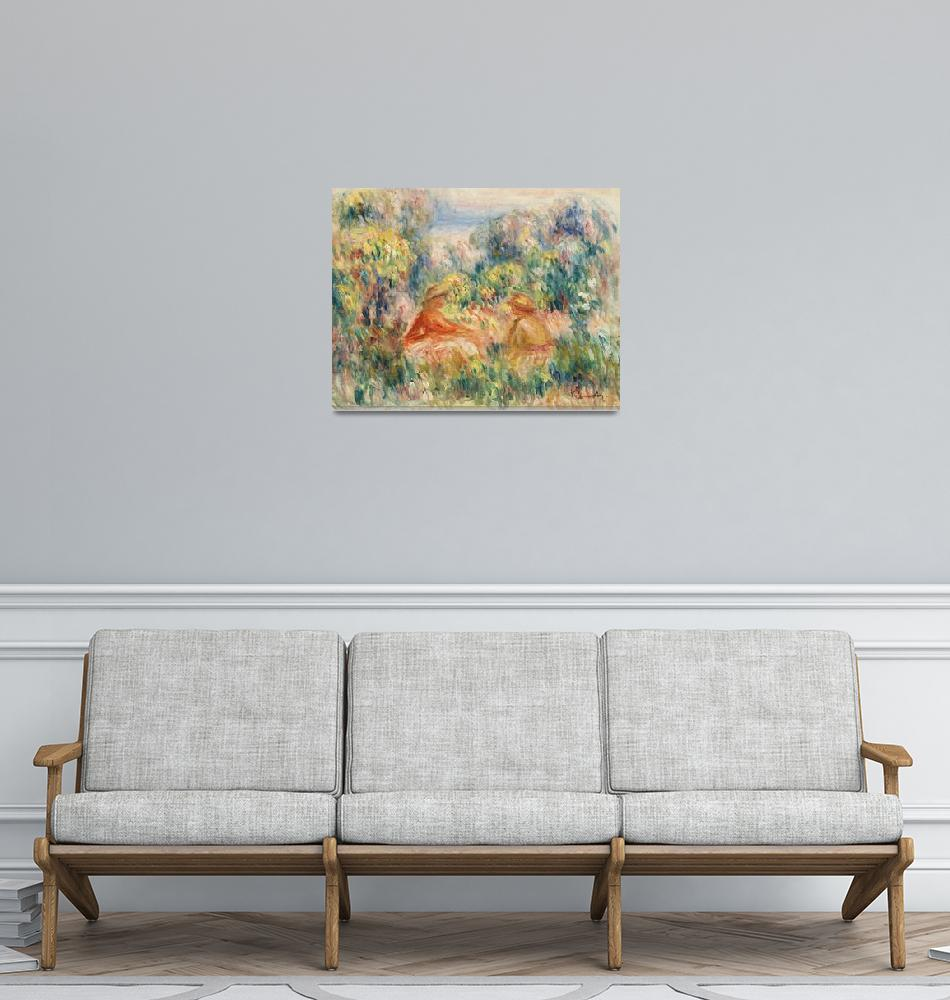 """Two Women in a Landscape by Renoir""  by FineArtClassics"