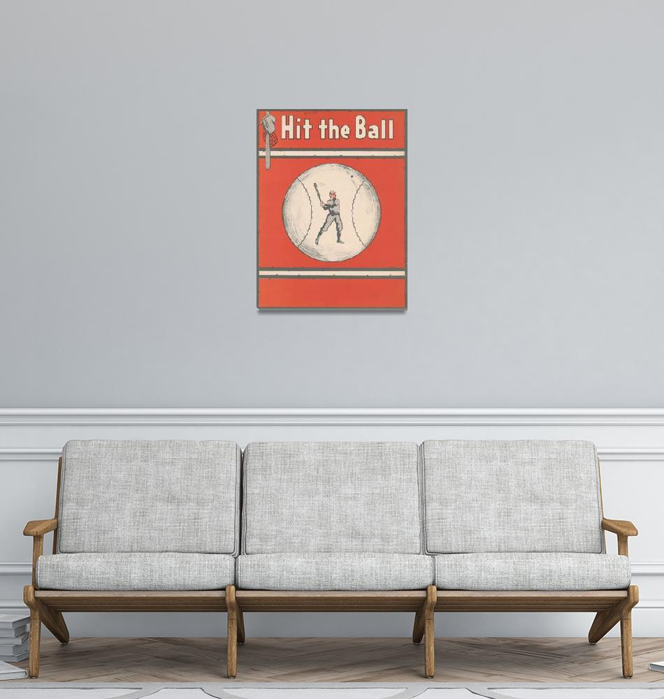 """Vintage Baseball Magazine Cover Illustration (1921"" by Alleycatshirts"