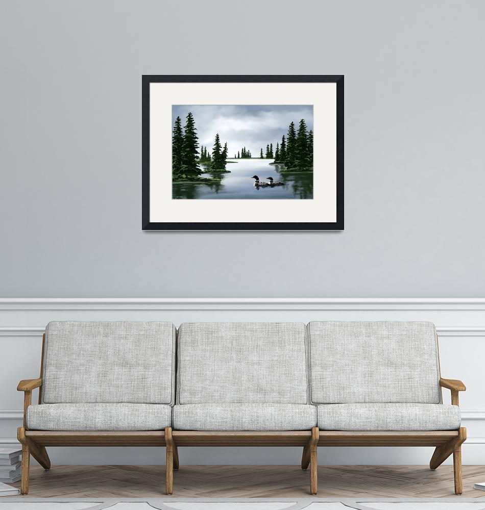 """Common Loon Print""  by waterart"