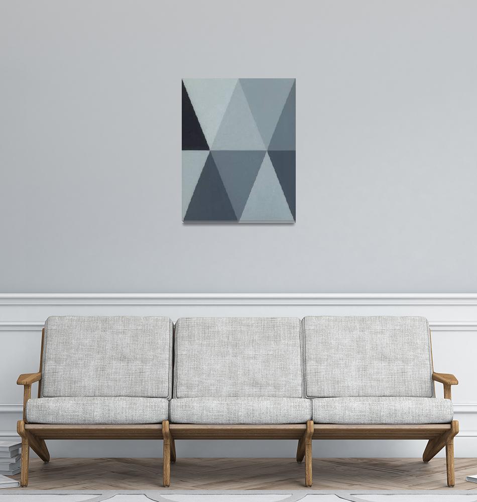 """""""Triangle Mini - Grey A2""""  (2011) by adam-schreck"""