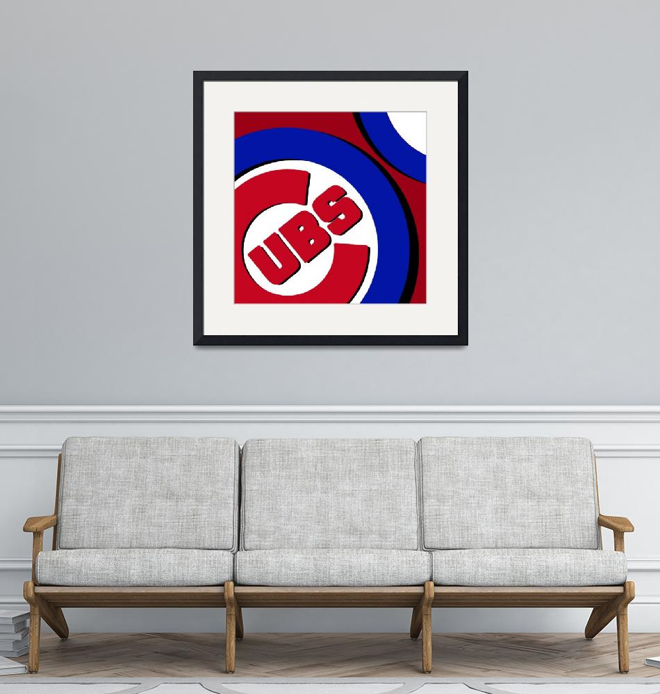"""Chicago Cubs Football""  (2016) by RubinoFineArt"