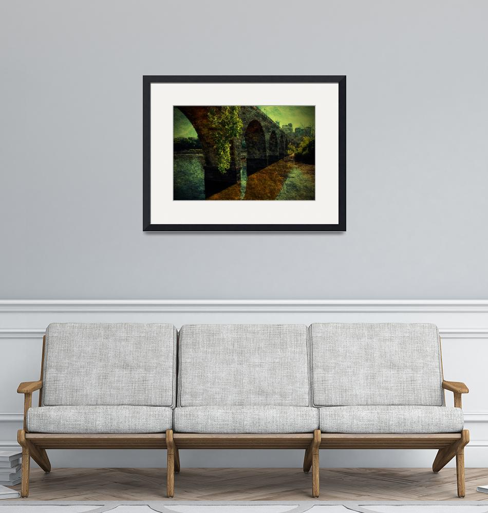 """""""The Old Stone Arch Bridge - Textured""""  by jpat"""