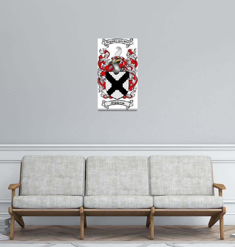 """""""MIDDLETON FAMILY CREST - COAT OF ARMS""""  by coatofarms"""