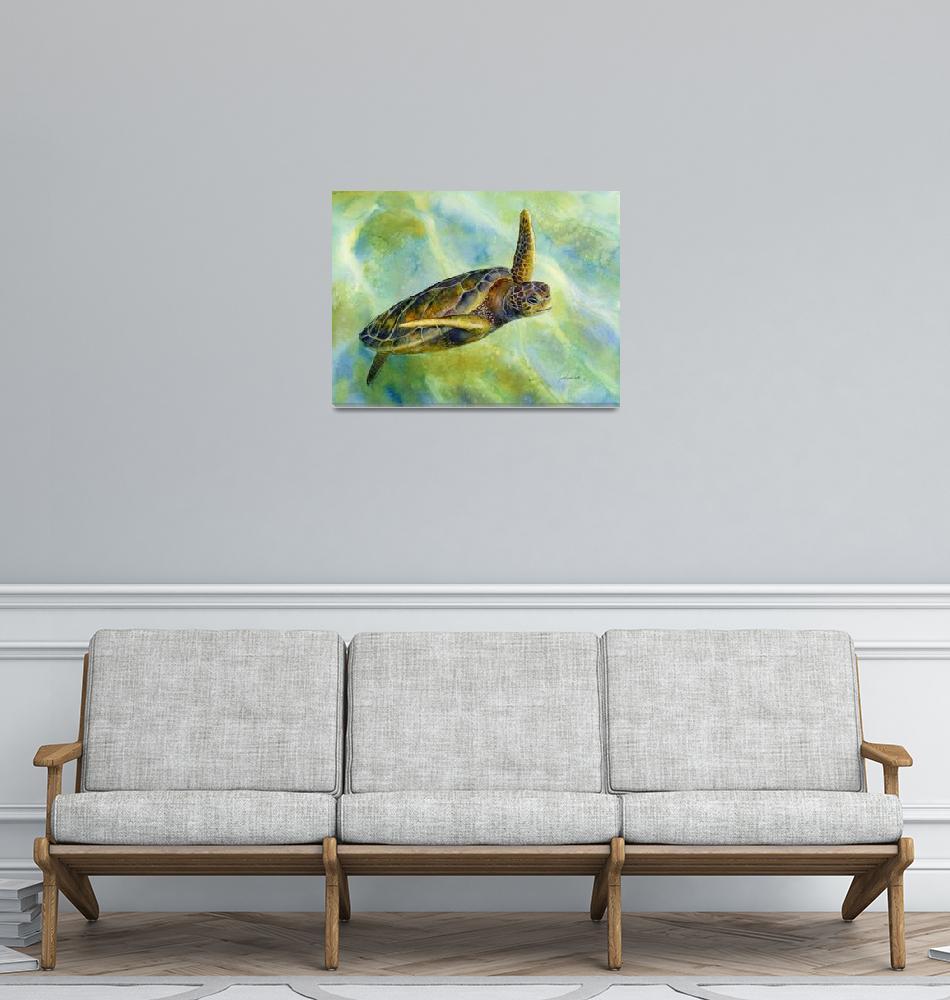 """Sea Turtle 2""  (2014) by HaileyWatermedia"