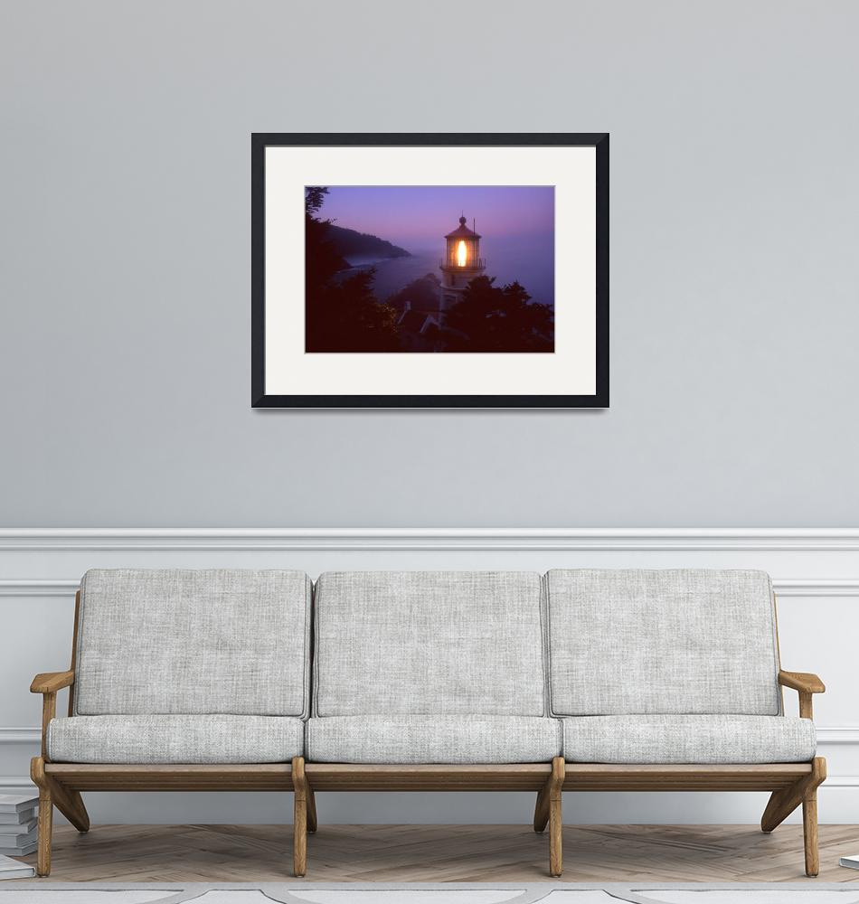 """""""Dawn At Heceta Head Lighthouse""""  (2003) by John-foster"""